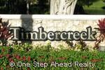 Timbercreek community sign