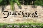 Fieldbrook Estates community sign
