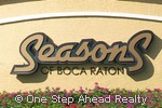 Seasons of Boca Raton community sign