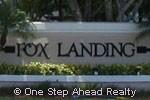 Fox Landing community sign